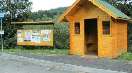 Výstavba autobusových čekáren, parkoviště..